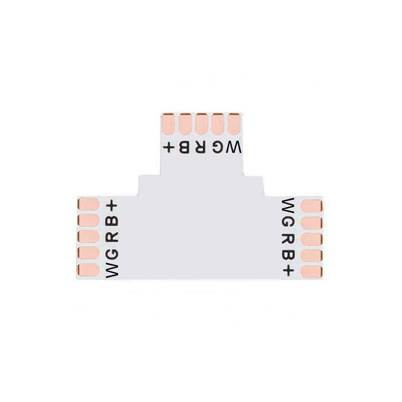 Conector T para tiras RGBW 5 Pin - 12mm