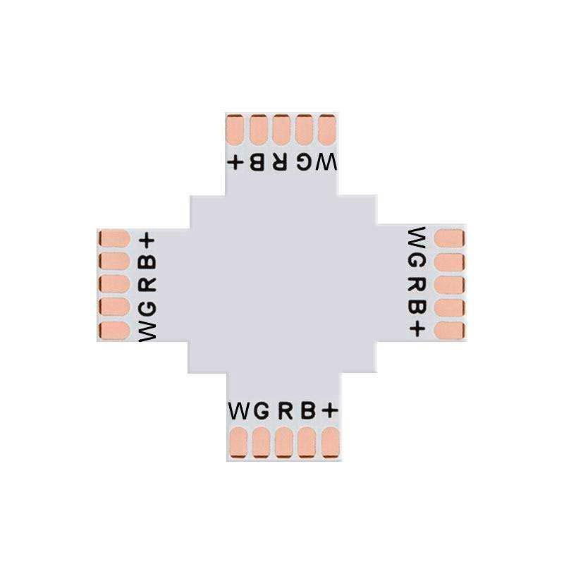Conector X para tiras RGBW 5 Pin - 12mm