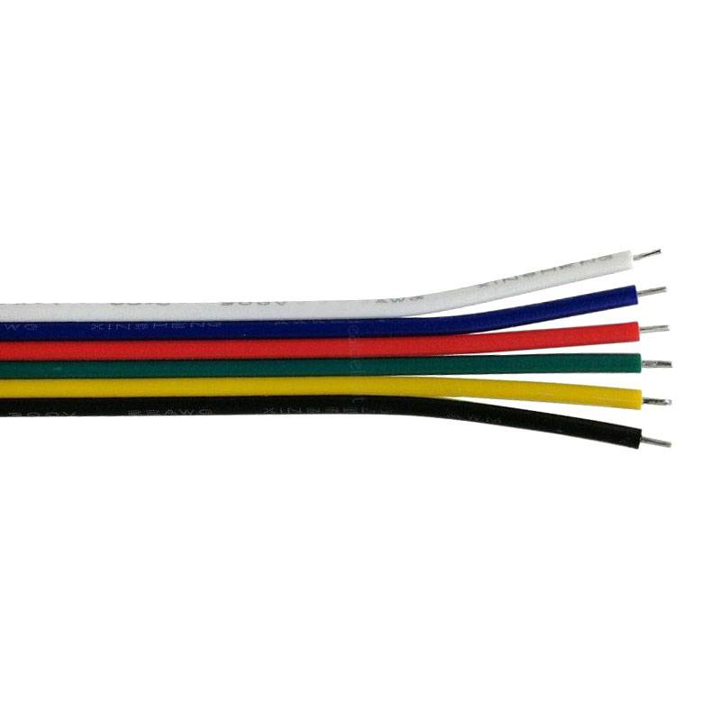 Cable de conexión a medida para tiras LED RGB+CCT 6x0,50mm, 1 metro