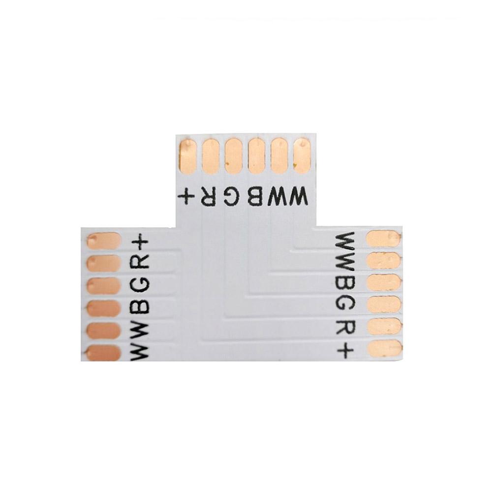 Conector T para fitas RGB+CCT 6 Pin - 12mm