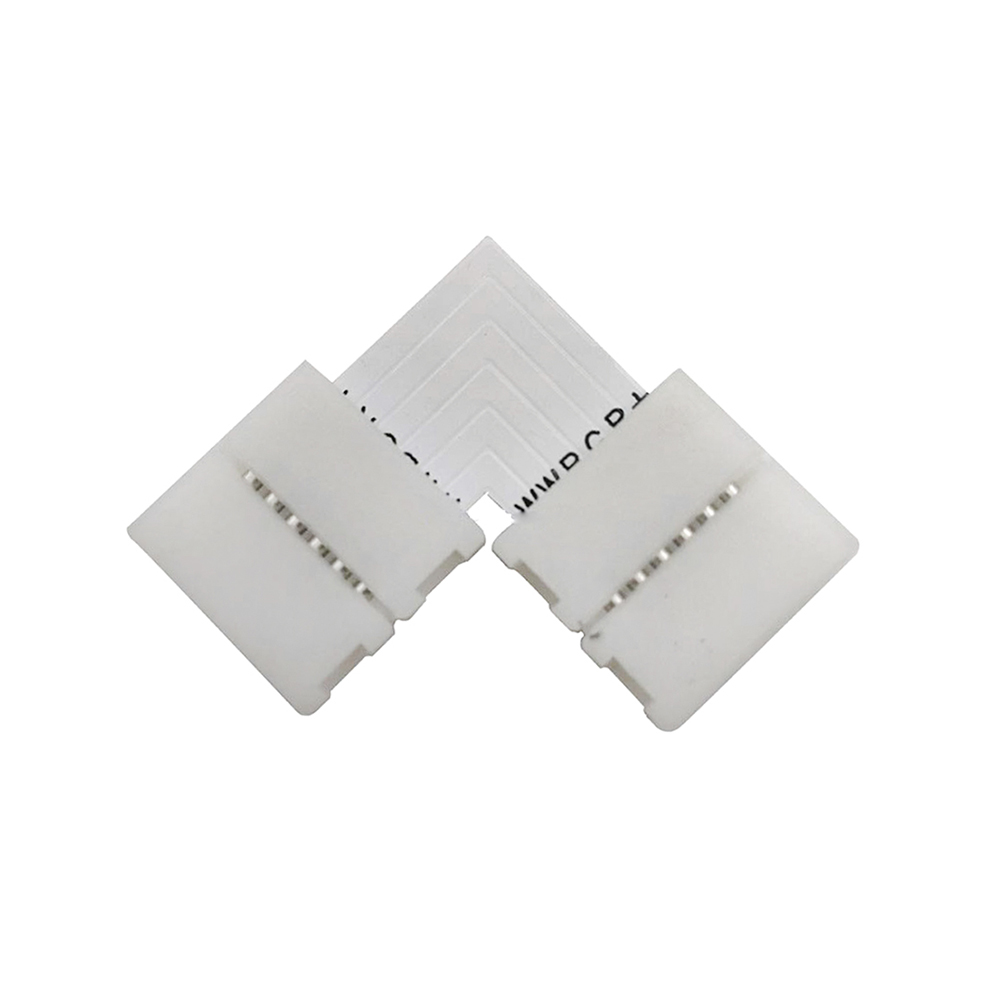 União / conector L rígido Pin Click para fitas LED RGB+CCT 6 pin