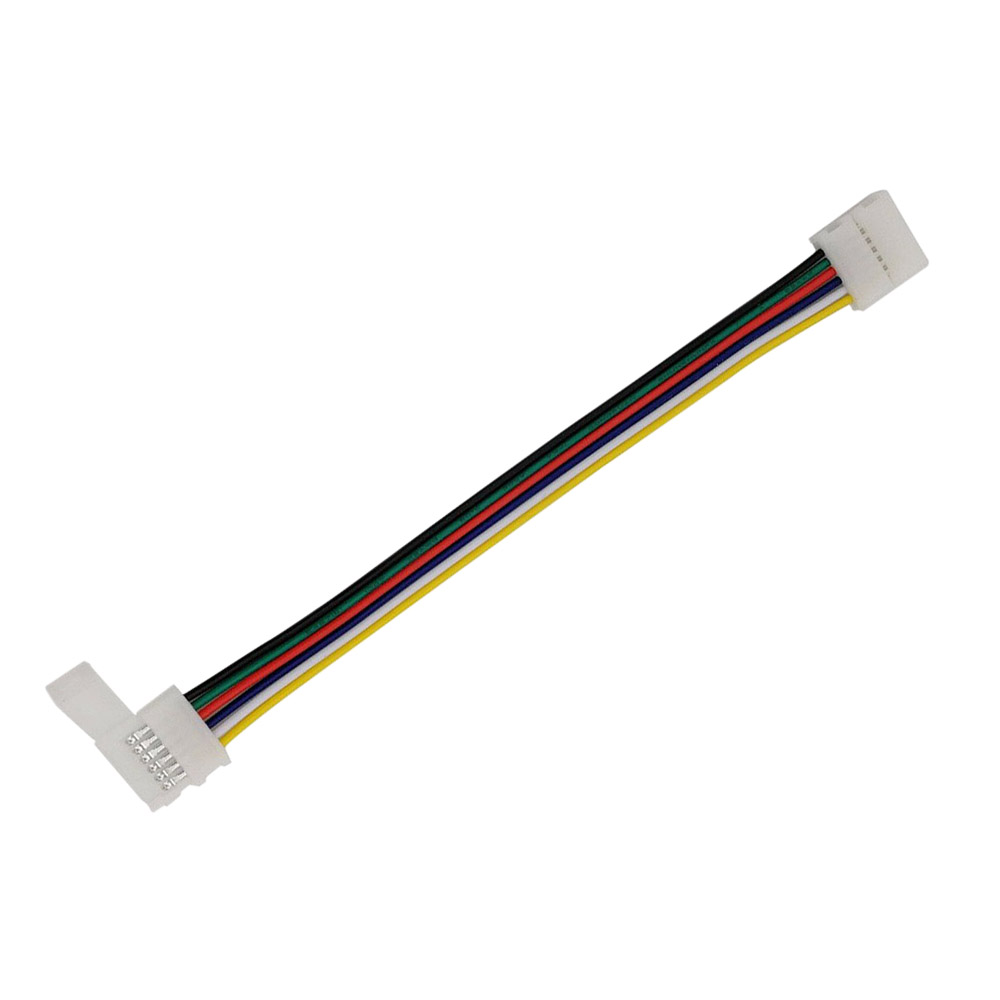 Cabo de conexão rápido 2 extremidades para fita LED RGB+CCT (6 Pin) 15cm