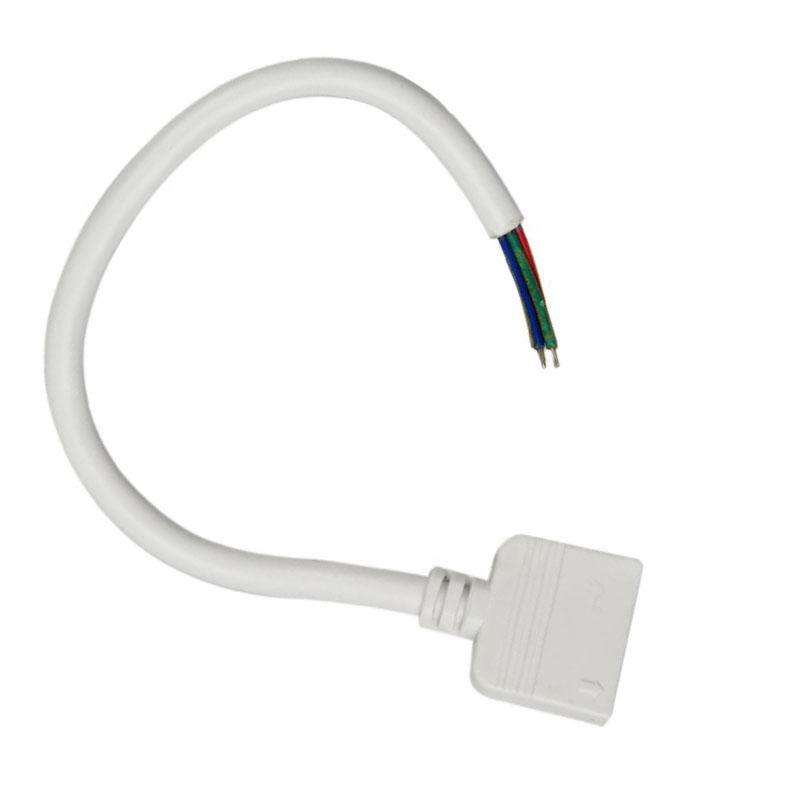 Cabo redondo de conexão fêmea 6 pin 11mm RGB + CCT, 15cm