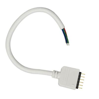Cable redondo conexión macho 6 Pin 11mm RGB+CCT, 15cm