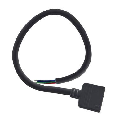Cable redondo conexión hembra 6 Pin 14mm RGB+CCT, 30cm, negro