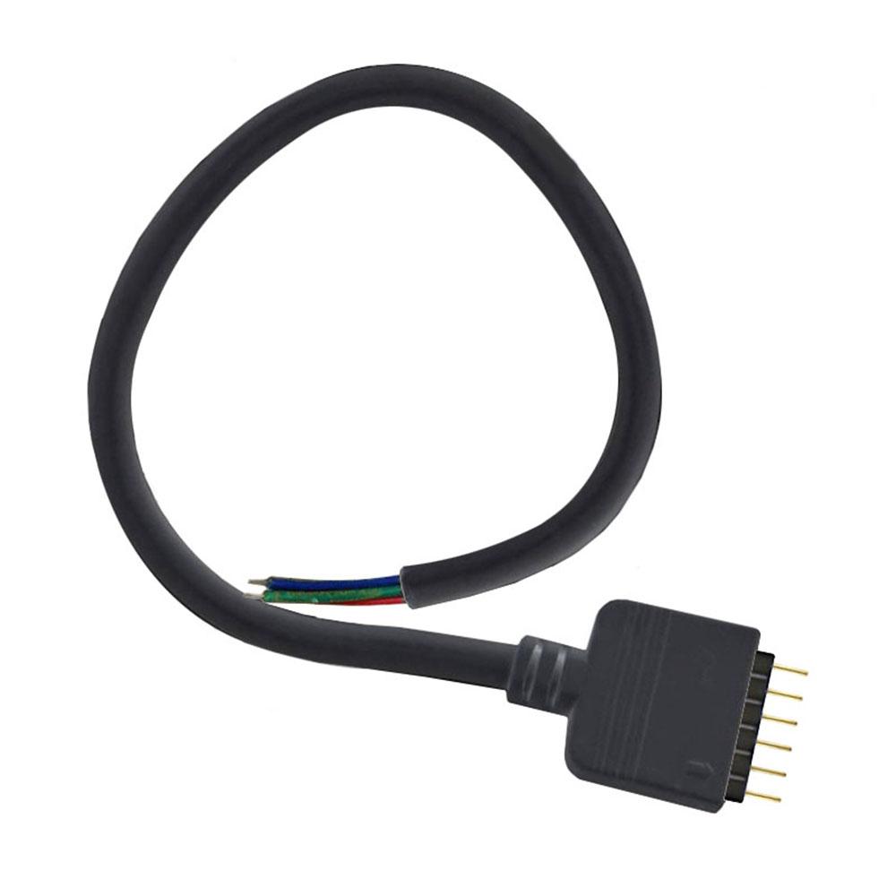 Cabo redondo conexão macho 6 Pin 14mm RGB + CCT, 30 cm, preto