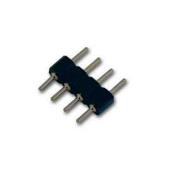 Conector Macho / Macho para tiras LED RGB (4 Pin)