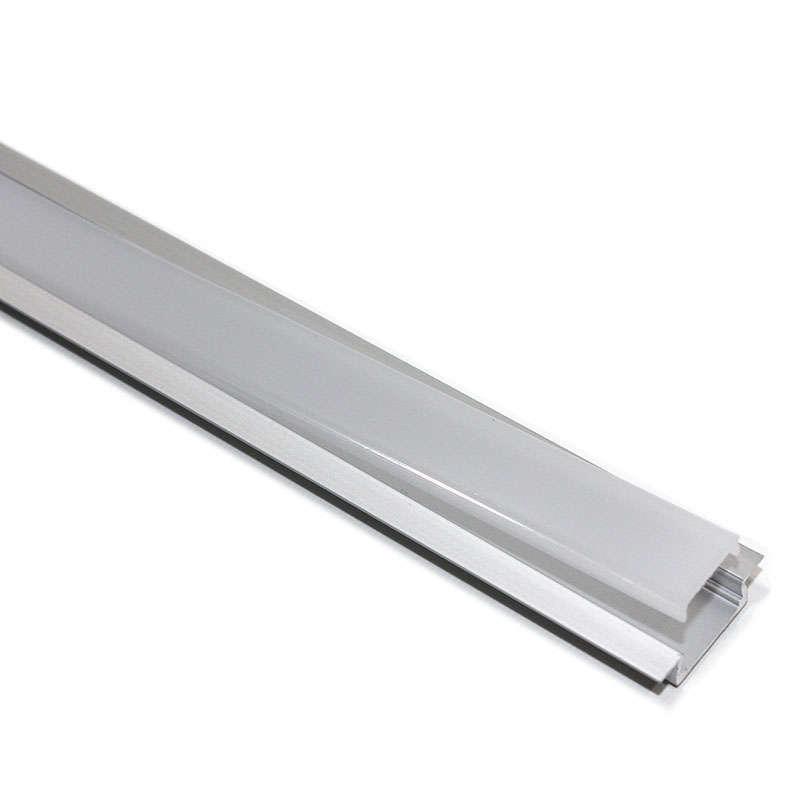 Perfil aluminio KOBE PRESS para tiras LED, 1 metro