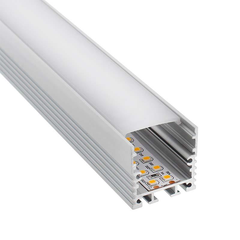 Perfil aluminio VART SUSPEND para tiras LED, 2 metros