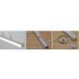 Perfil aluminio ALKAL SUSPEND para tiras LED, 1 metro