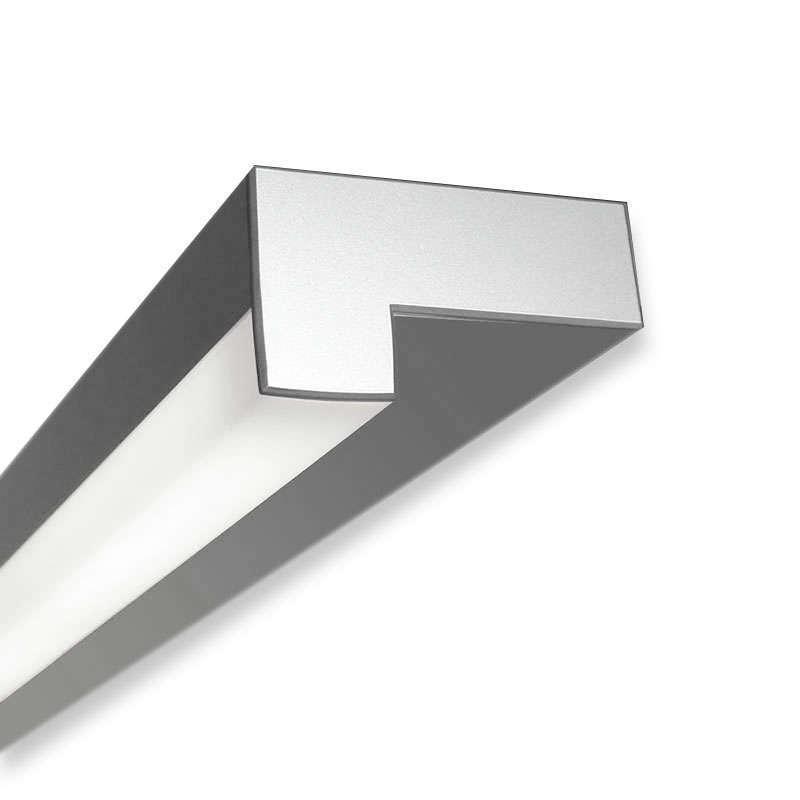Perfil aluminio LOIN para tiras LED, 1 metro