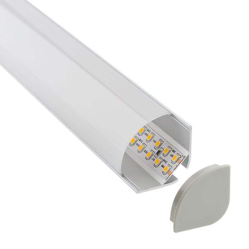 KIT Perfil aluminio KORK para fitas LED, 2 metros