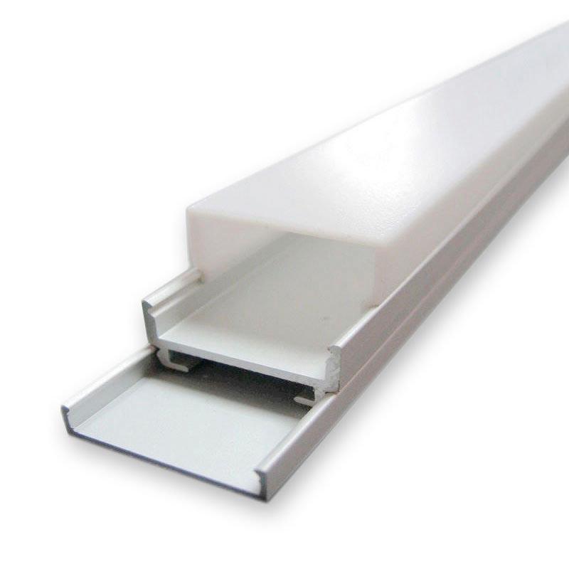 KIT - Perfil aluminio ALKAL para tiras LED, 2 metros