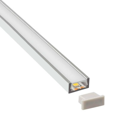 KIT - Perfil aluminio SENSA para tiras LED, 1 metro