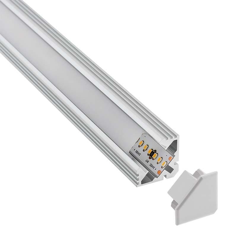KIT - Perfil aluminio VENCO para fitas LED, 1 metro