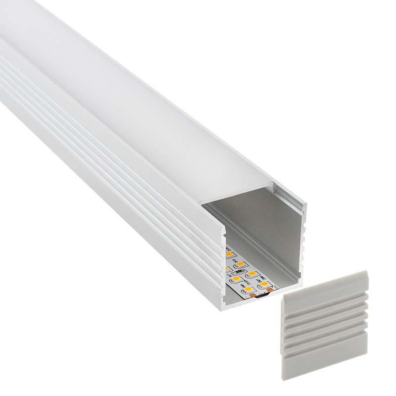 KIT - Perfil aluminio VART para tiras LED, 1 metro