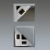 KIT - Perfil aluminio SINGE para tiras LED, 1 metro