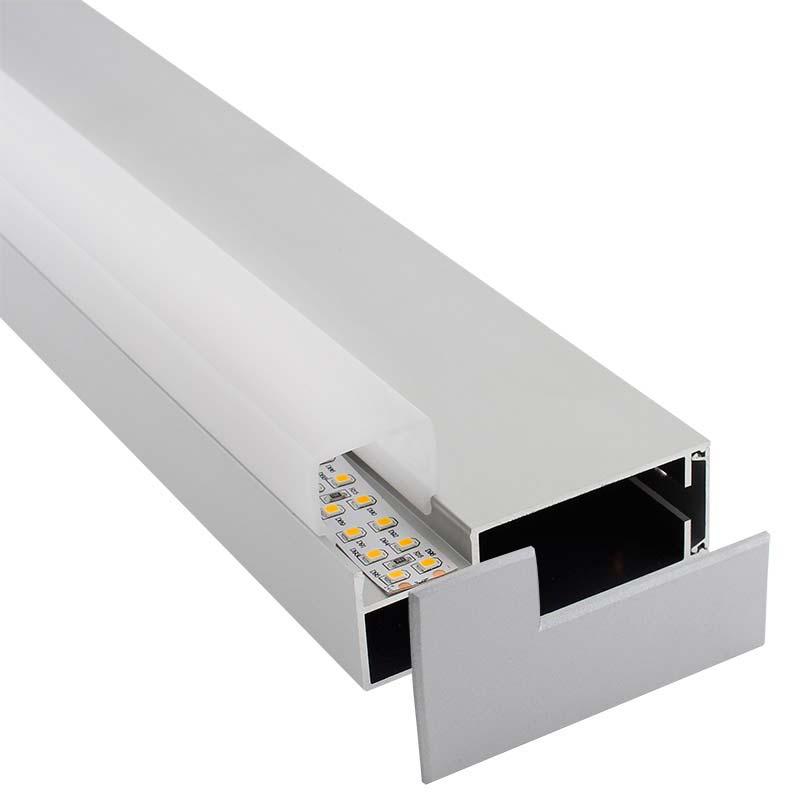 KIT - Perfil aluminio LOIN para tiras LED, 1 metro
