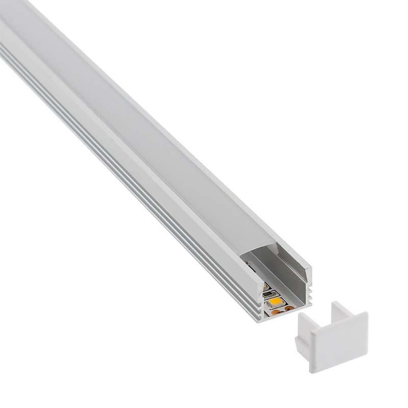 KIT - Perfil CAMBEL para tiras LED, 1 metro
