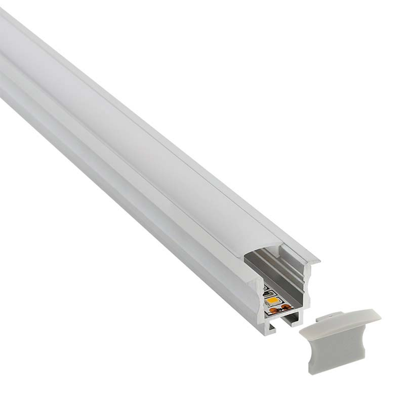 KIT - Perfil aluminio TEITO MINI para tiras LED, 1 metro