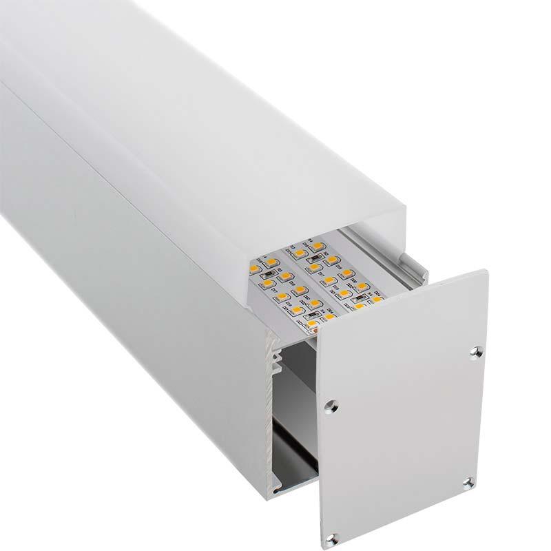 KIT - Perfil aluminio NORLUX para tiras LED, 2 metros