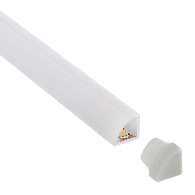 KIT - Perfil plástico ROD IP68 para tiras LED, 1 metro