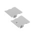 KIT - Perfil aluminio FOOT para fitas LED, 2 metros