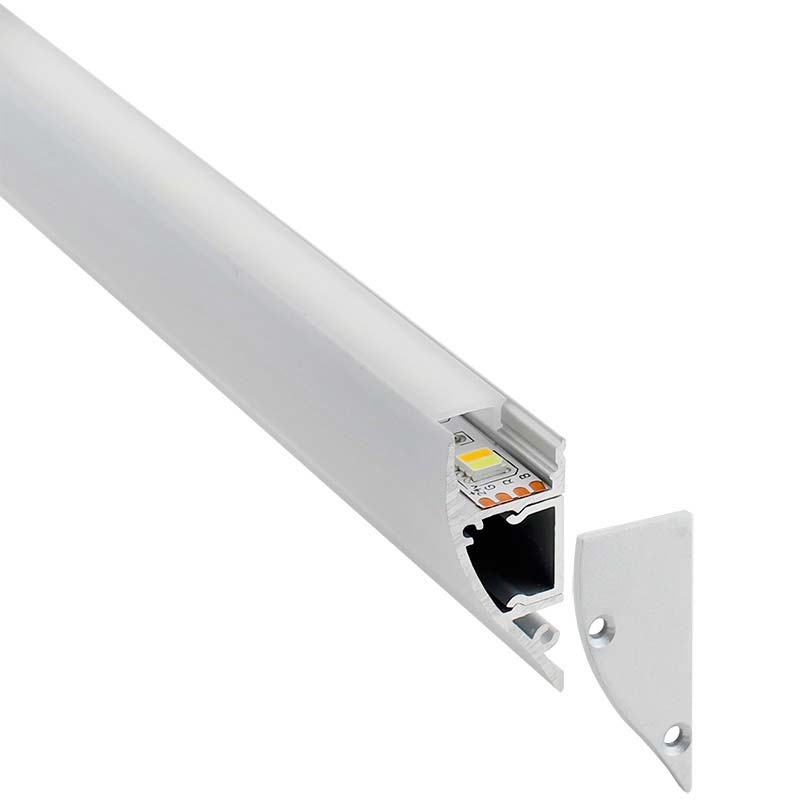 KIT - Perfil aluminio WALL UP para tiras LED, 2 metros