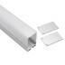 KIT - Perfil aluminio MASAT para tiras LED, 1 metro