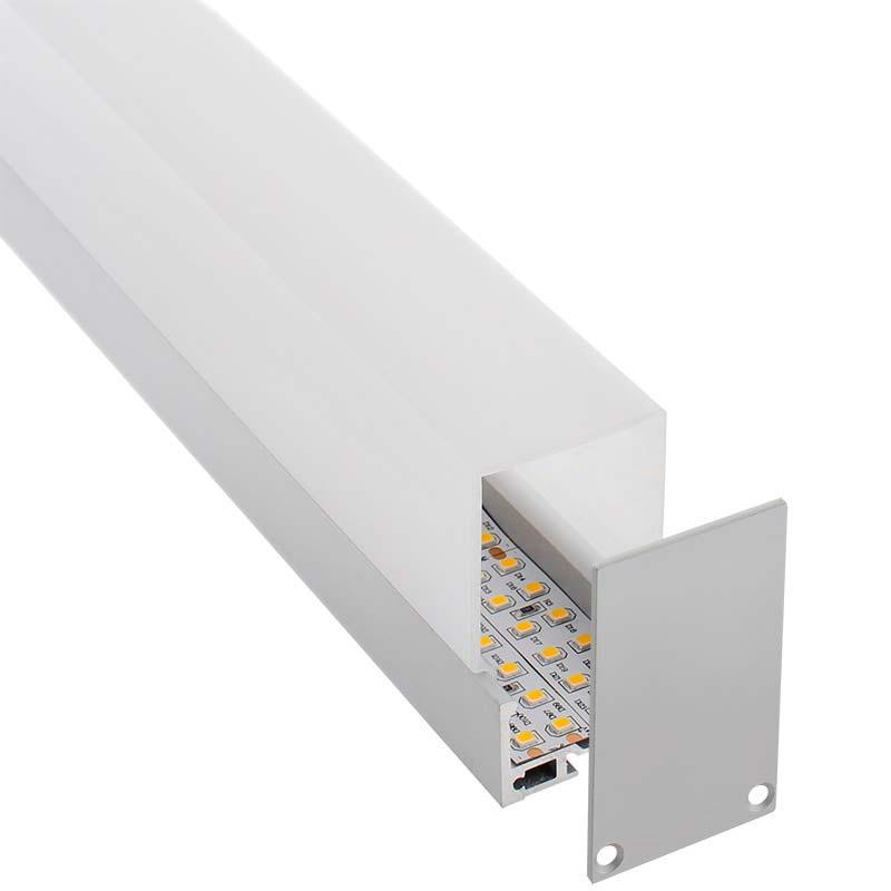 KIT - Perfil aluminio MASAT para fitas LED, 2 metros