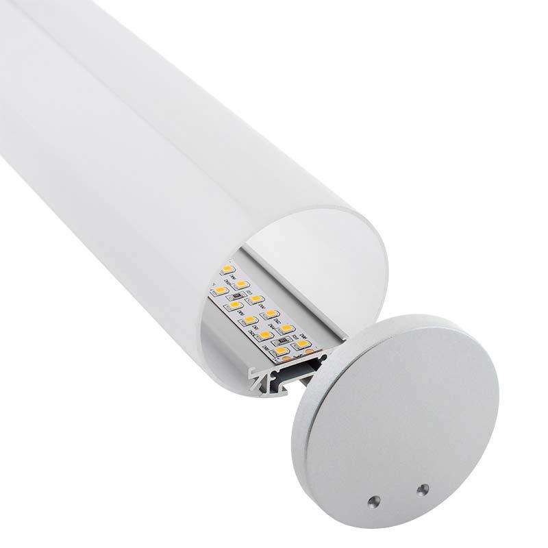 KIT - Perfil aluminio BAROUND para tiras LED, 2 metros