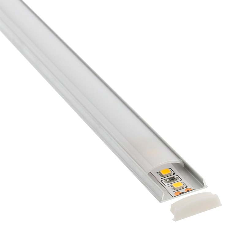 KIT - Perfil aluminio flexible FLEX para tiras LED, 1 metro