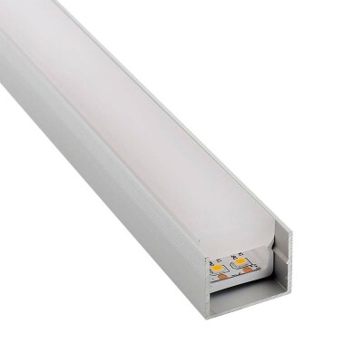 KIT - Perfil PC FOOT para tiras LED, 1 metro