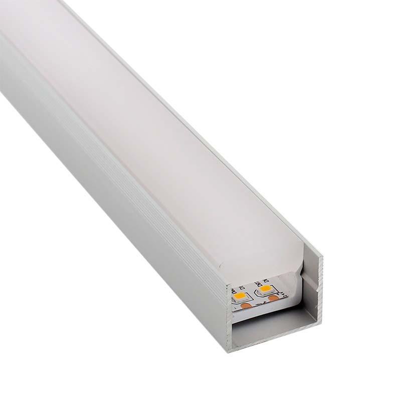 KIT - Perfil PC FOOT para fitas LED, 2 metros