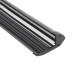 KIT - Perfil aluminio negro CINEMA para tiras LED, 1 metro