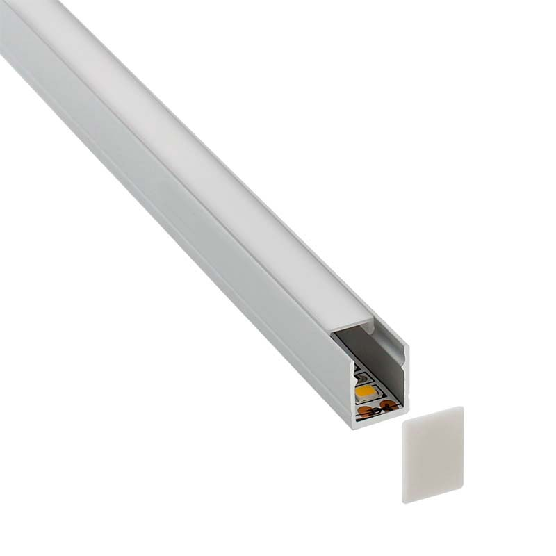 KIT - Perfil SKYRT para tiras LED, 1 metro