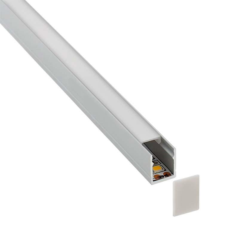 KIT - Perfil SKYRT para tiras LED, 2 metros