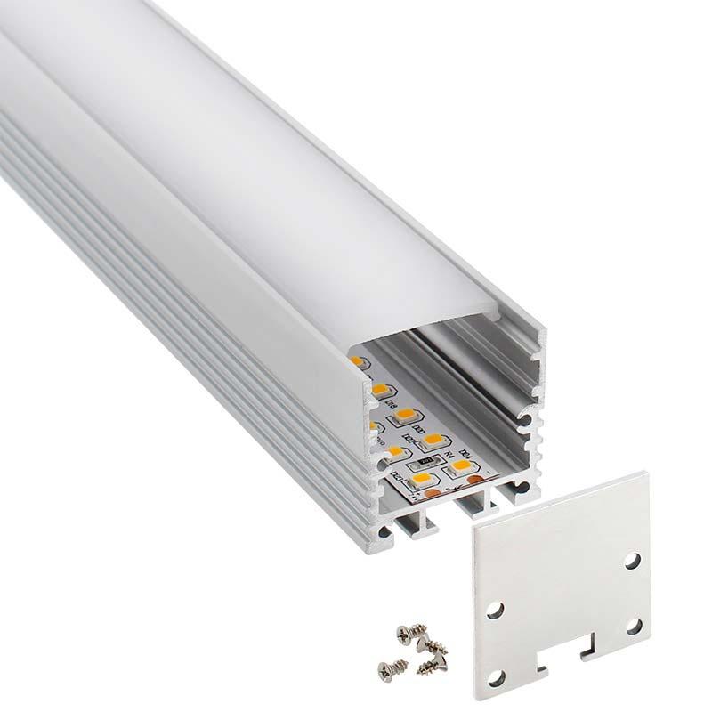 KIT - Perfil aluminio VART SUSPEND para tiras LED, 1 metro