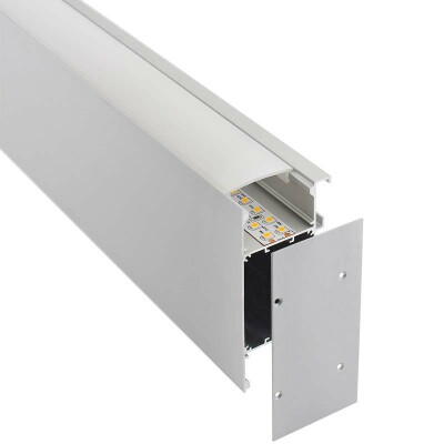 KIT - Perfil aluminio NewWALL para tiras LED, 1 metro