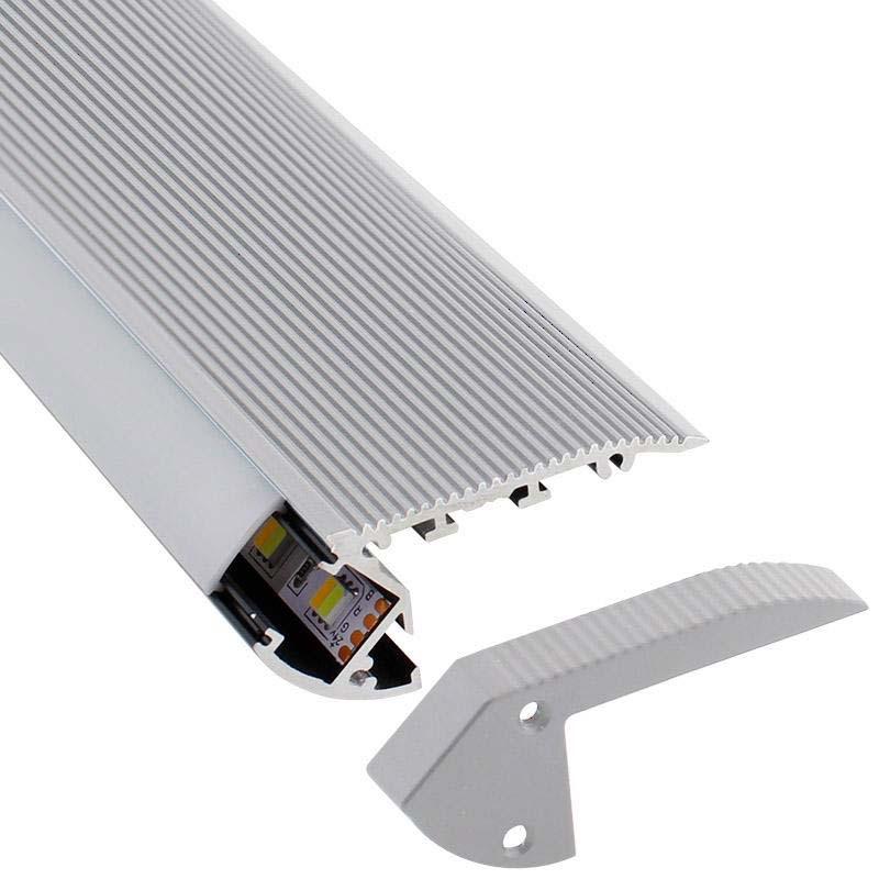 KIT - Perfil aluminio silver CINEMA para fitas LED, 2 metros