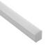 KIT - Perfil aluminio GURKEN para tiras LED, 1 metro