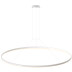 KIT - Perfil aluminio circular RING, Ø1800mm, branco