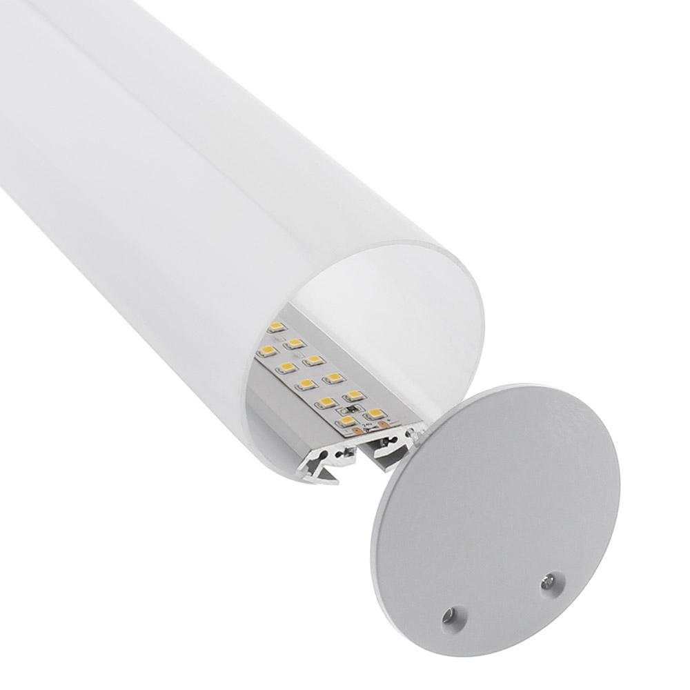 KIT - Perfil aluminio BAROUND_S para fitas LED, 2 metros