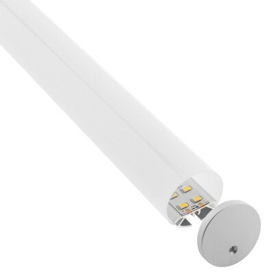 KIT - Perfil aluminio BAROUND Ø30 para tiras LED, 1 metro