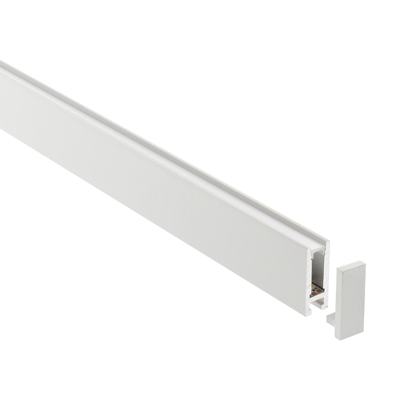 Perfil aluminio PHANTER S2 para tiras LED, 1 metro, blanco