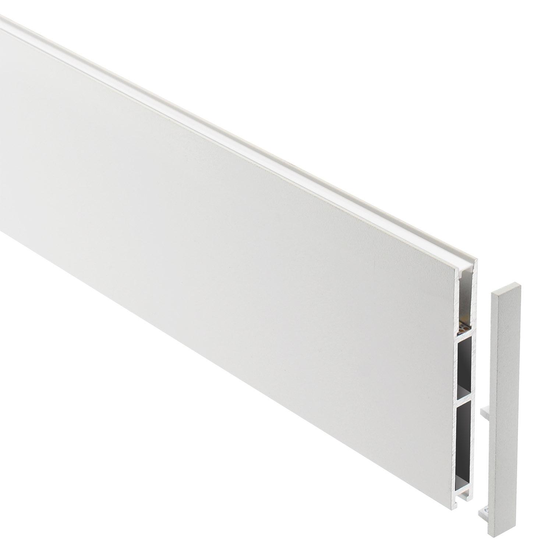 Perfil aluminio PHANTER S3 para fitas LED, 1 metro, branco
