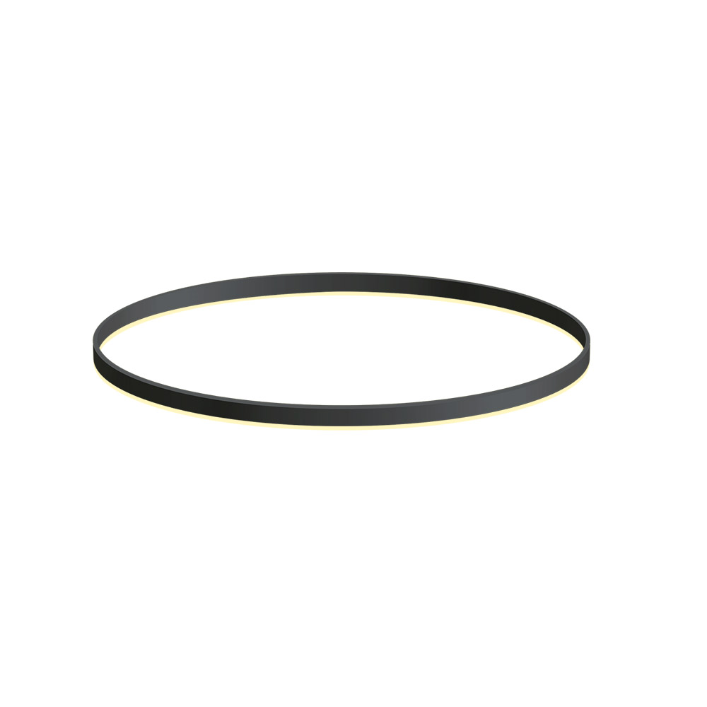 KIT - Perfil aluminio circular RING, Ø900mm, preto