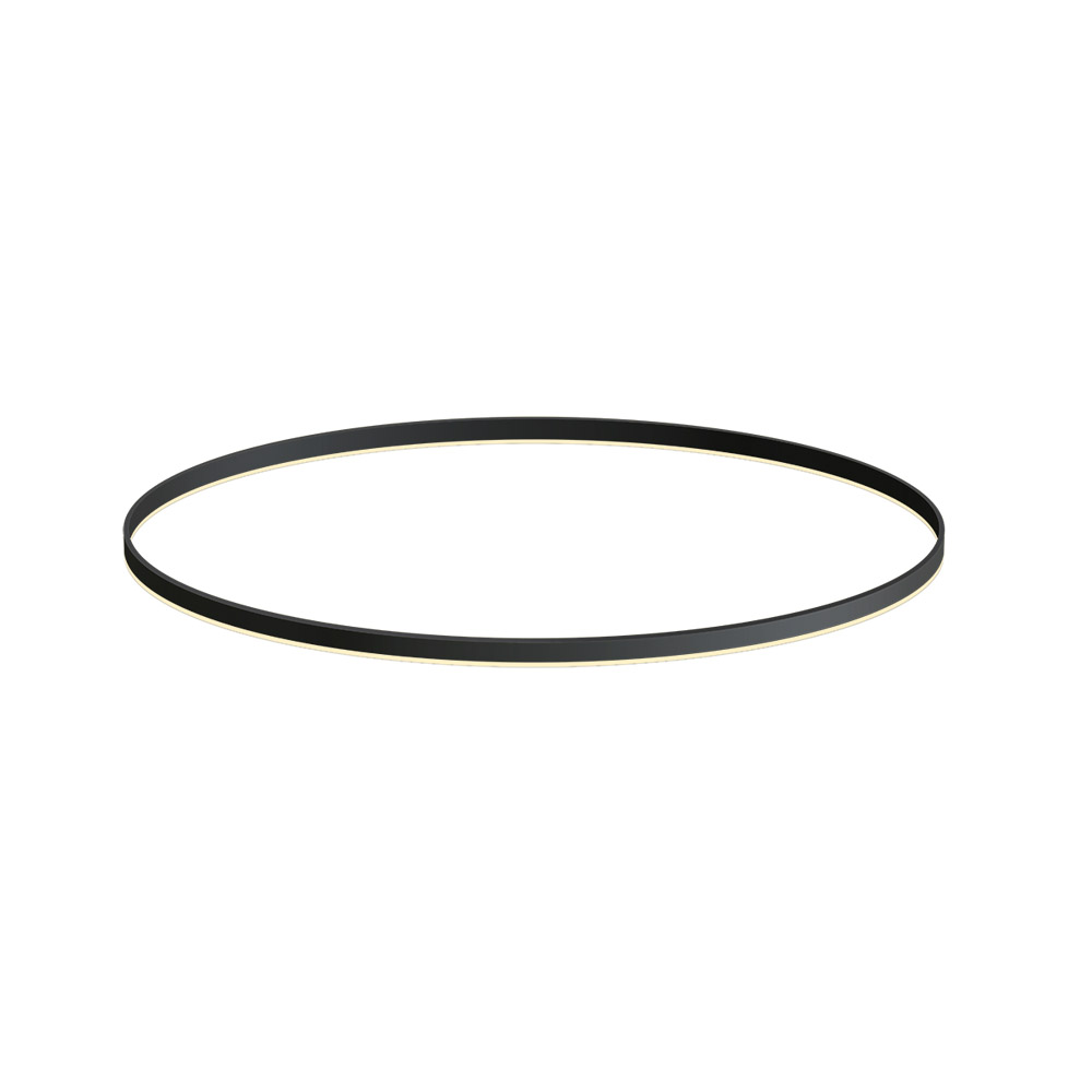 KIT - Perfil aluminio circular RING, Ø1200mm, preto
