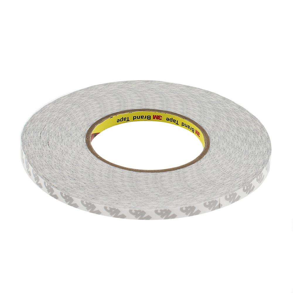 Adhesivo 3M 9080HL para tiras y perfiles LED, 8mm, rollo 50m