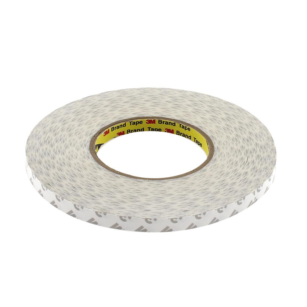 Adhesivo 3M 9080HL para tiras y perfiles LED, 10mm, rollo 50m